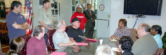 Congresswoman visited with Jobs with Justice activists
