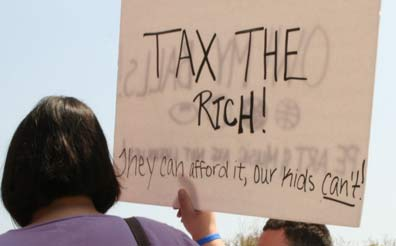 tax the rich sign