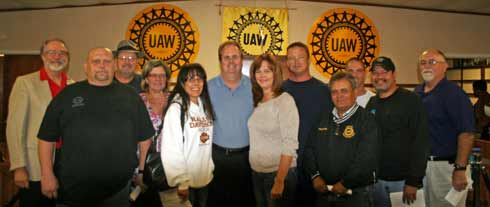 Gary Jones with UAW848 supporters
