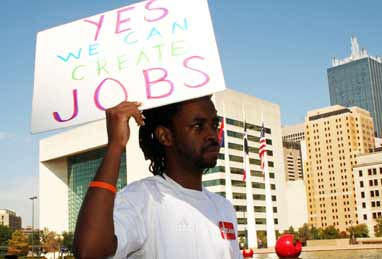 Save jobs sign